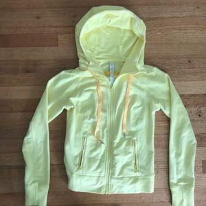 Lululemon bright yellow scuba hoodie